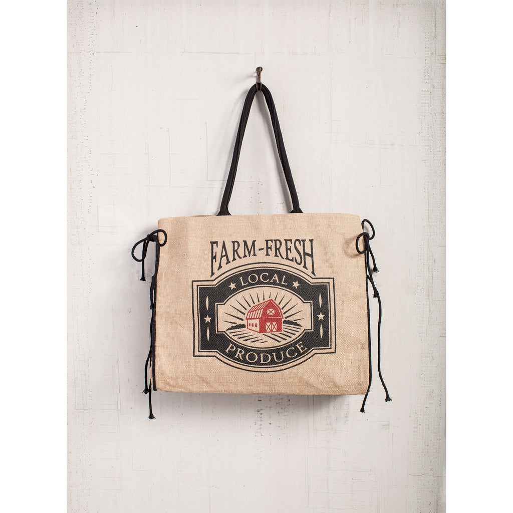 Farm Fresh Produce Jute Tote -Fixer Upper Style - ET Tobey & Company