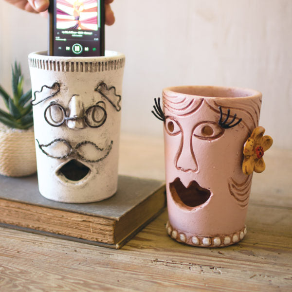 Mr. Big Mouth Clay & Wire Smart Phone Speaker