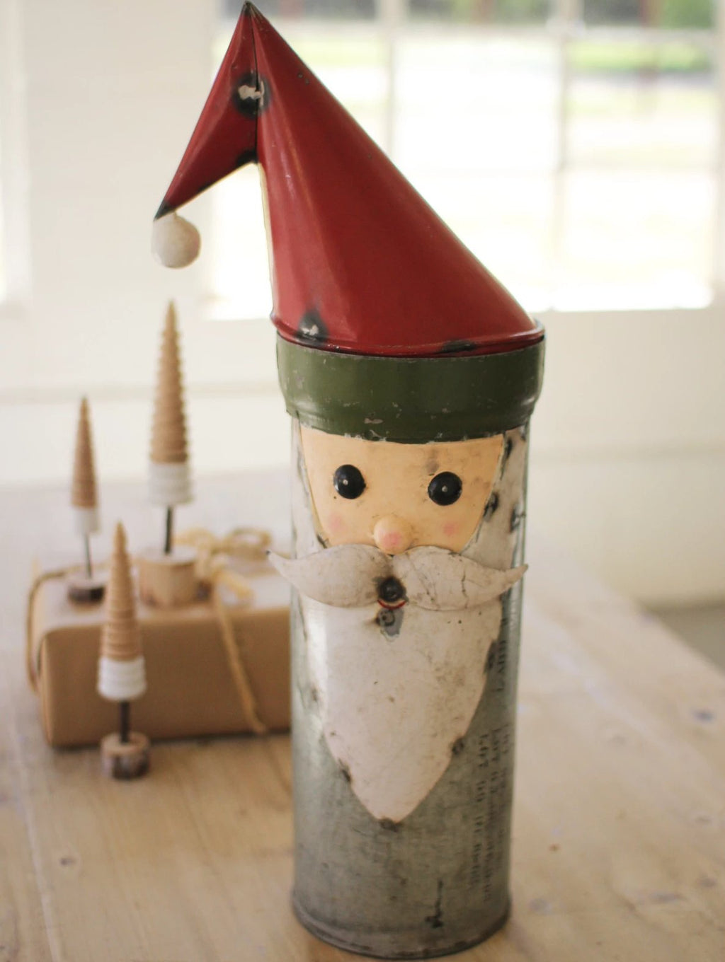 Recycled Military Canister Santa