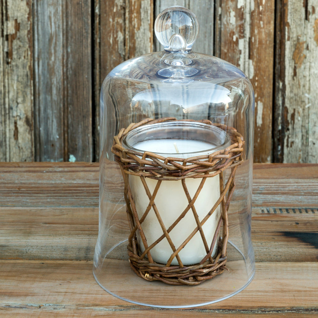 Candle Glass Bell Jar - As Seen On Fixer Upper - ET Tobey Company