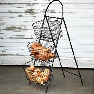 Standing Farmers Market Wire Basket -Fixer Upper Style - ET Tobey & Company