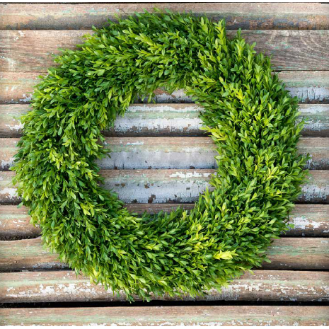 "Faux Boxwood Wreath 20"" - E.T. Tobey Company"