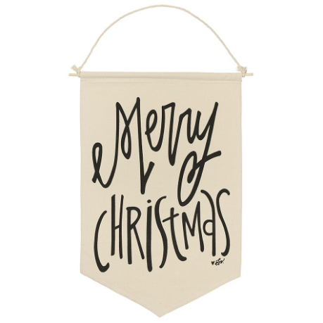 Merry Christmas Canvas Banner - E.T. Tobey Company