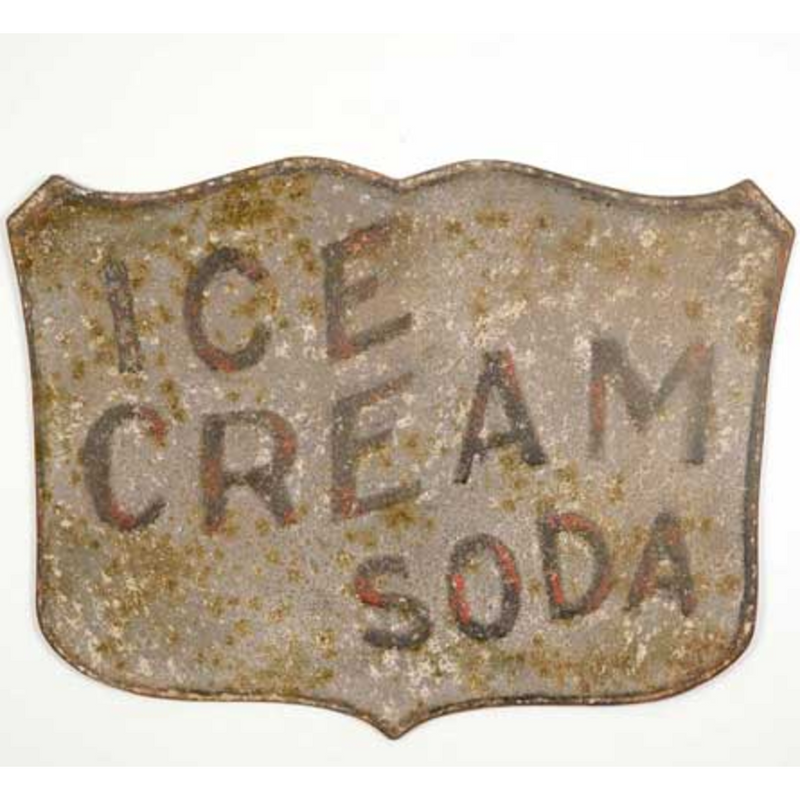 Ice Cream Soda Metal Sign - E.T. Tobey Company