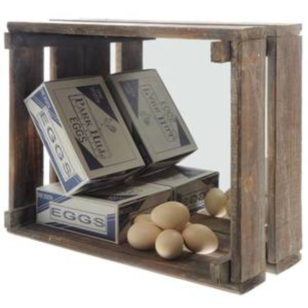 Wood Crate with Mirror - E.T. Tobey Company