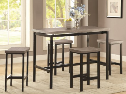 Dinette 5 Piece Counter Height Dining Set