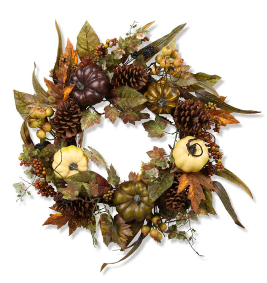 Pumpkin Pinecone & Berry Wreath