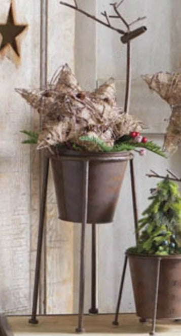 Metal Reindeer Planter