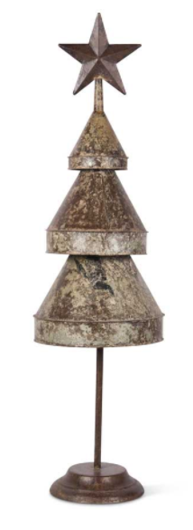 Weathered Tin Tree w/Star