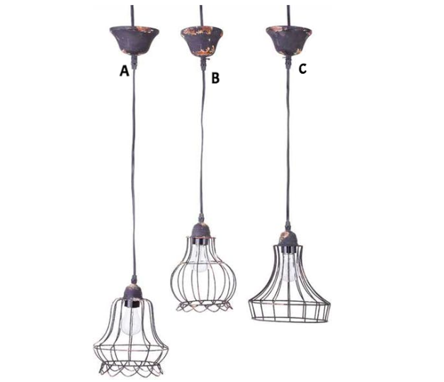 Wire Hanging Pendant Lamp