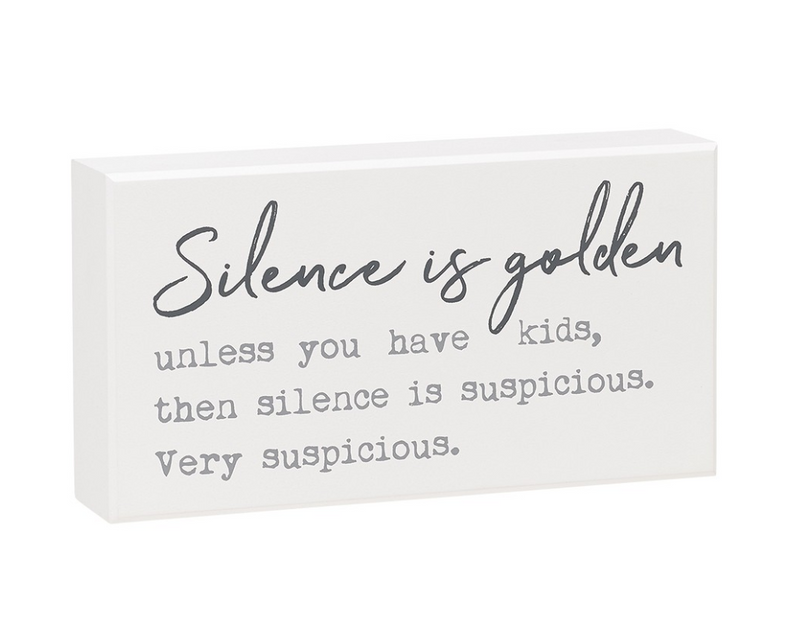 Silence Golden Box Sign