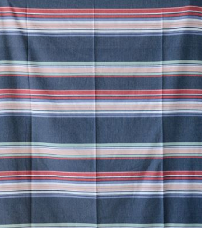 Cotton Striped Tablecloth