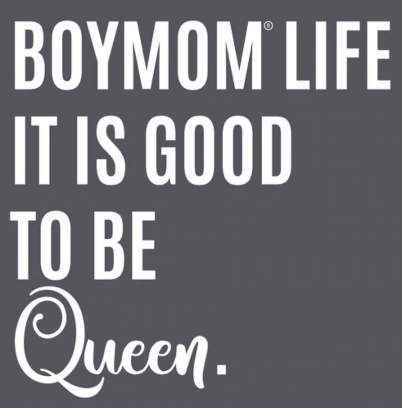 BoyMom Life It is Good to be Queen Grey Crew Tee