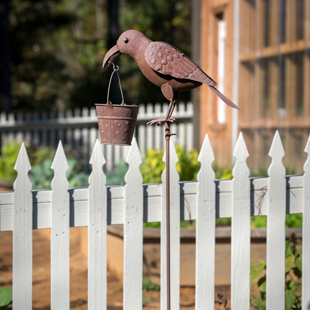 Folk Art Crow Bird Feeder
