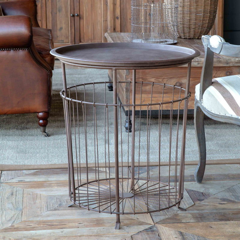 Wire Bushel Table