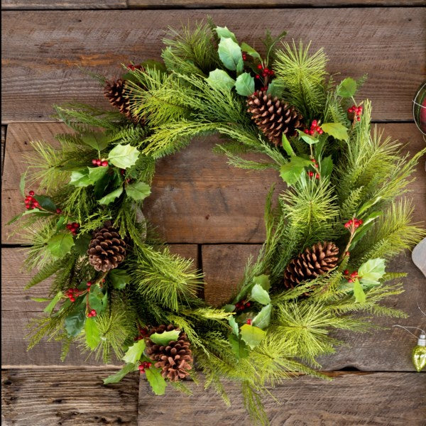 Bundled Evergreen Wreath