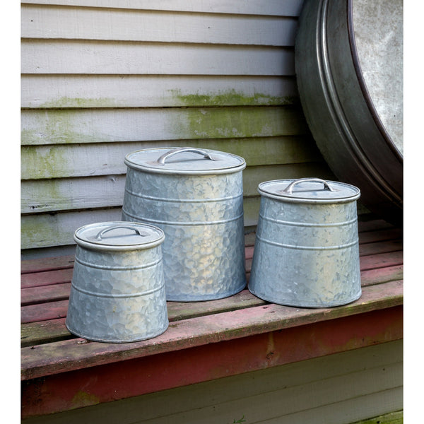Metal Bulk Seed Canisters - E.T. Tobey Company - farmhouse style