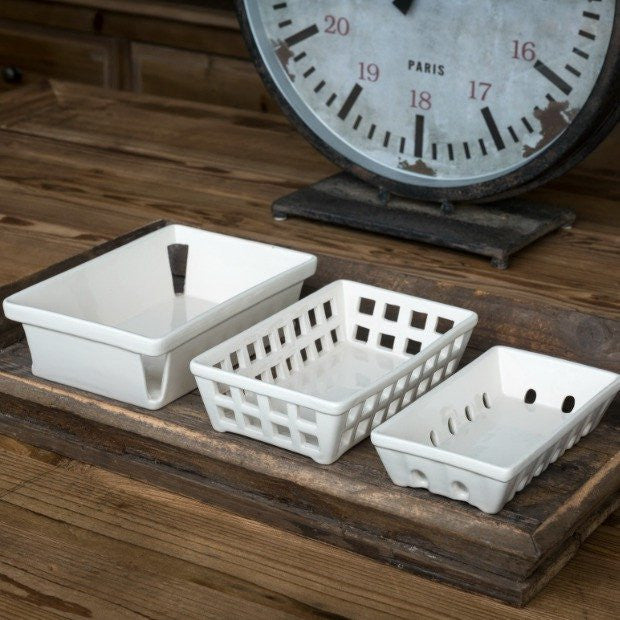 Ceramic Berry Baskets - E.T. Tobey Company - Fixer Upper Style - Joanna Gaines Style