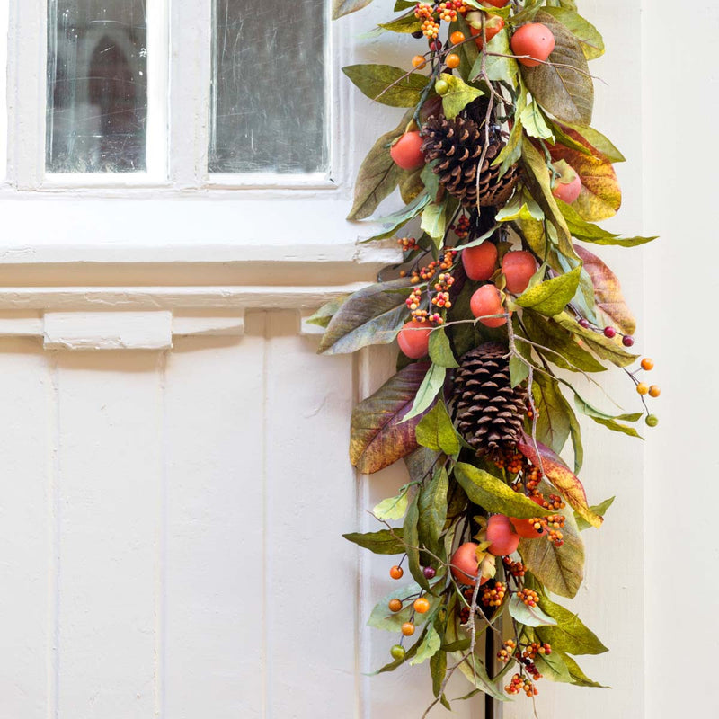 Autumn Persimmon Table Garland