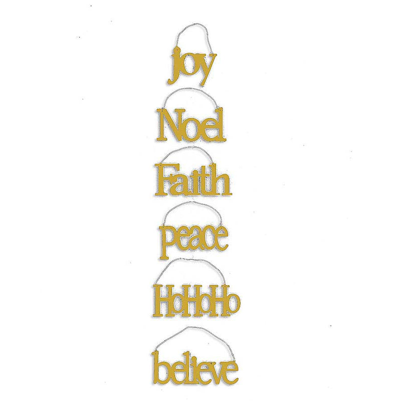 Champagne Message Ornaments