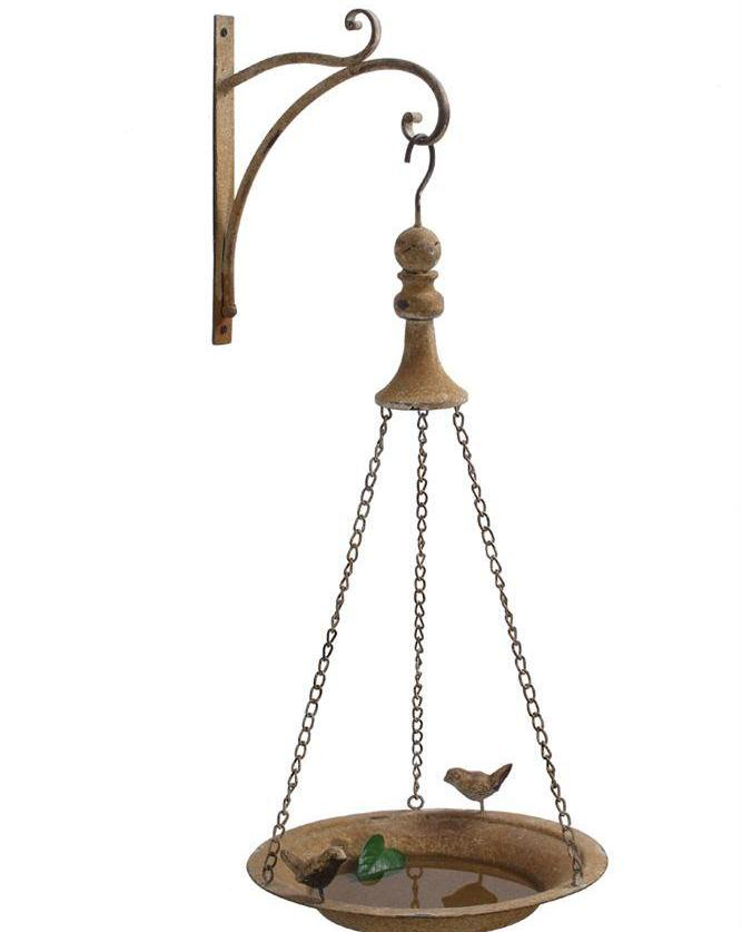 Light Rust Metal Bird Feeder w/ Hook