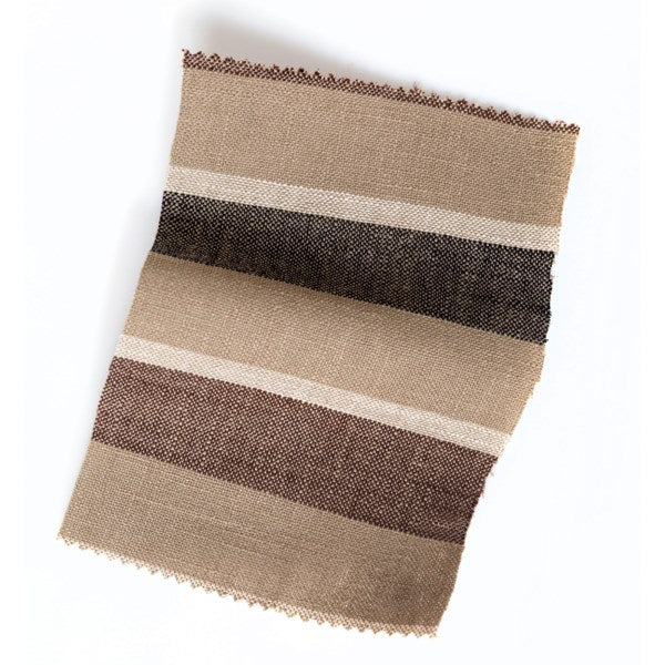 Brown Awning Stripe With Velvet Flange