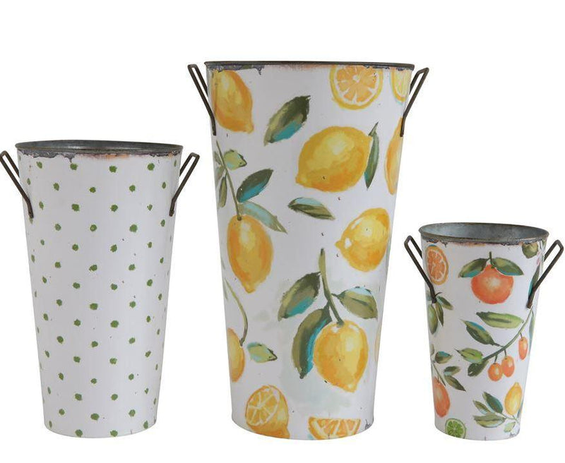 Fruit & Floral Buckets w/ Handles