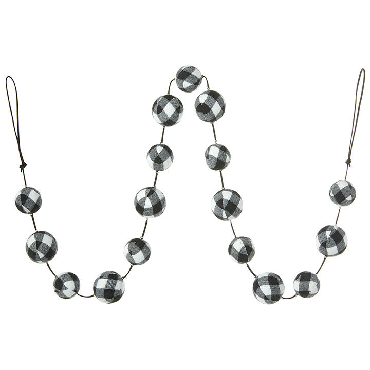 Buffalo Check Ball Garland