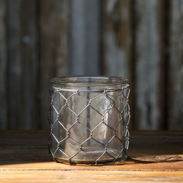 Candle Holder w/ Poultry Wire