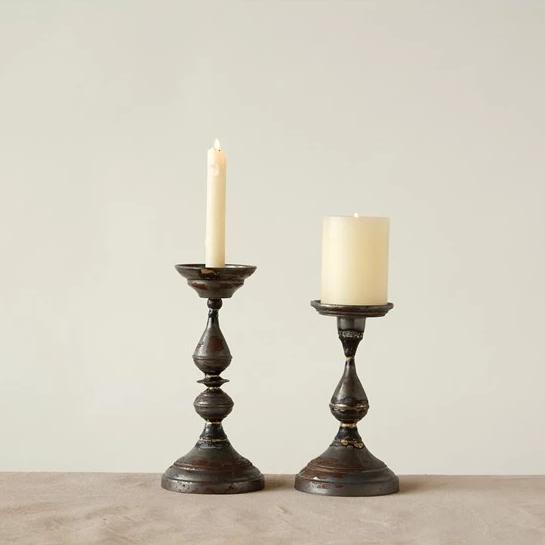 Galvanized Metal Candle Holder