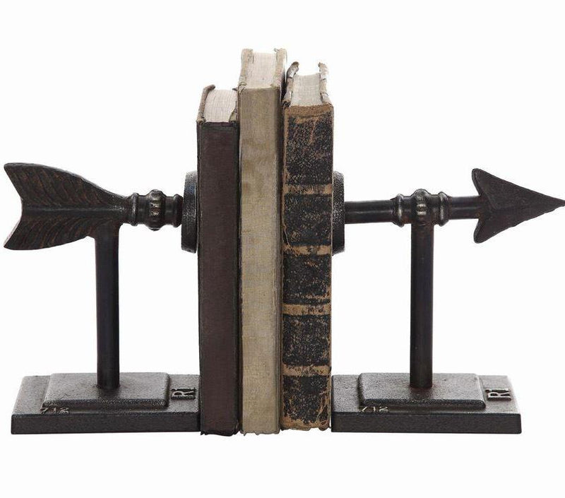 Cast Iron Arrow Bookends