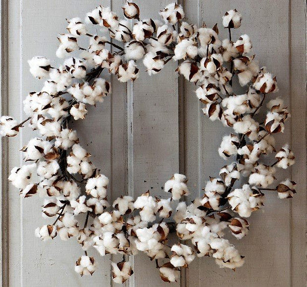 Large cotton wreath - E.T. Tobey Company