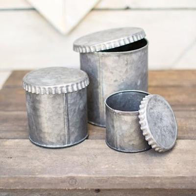 Tin Canister set of 3 - e.t. tobey company