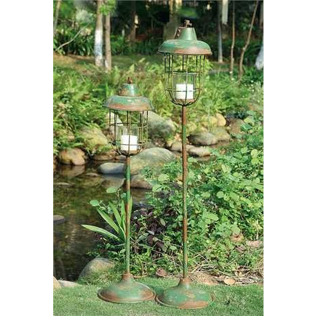 Metal Standing Lantern Pillar Holder - E.T. Tobey Company