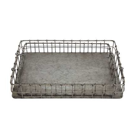 Decorative Iron Trays w/ Handles - E.T. Tobey Company