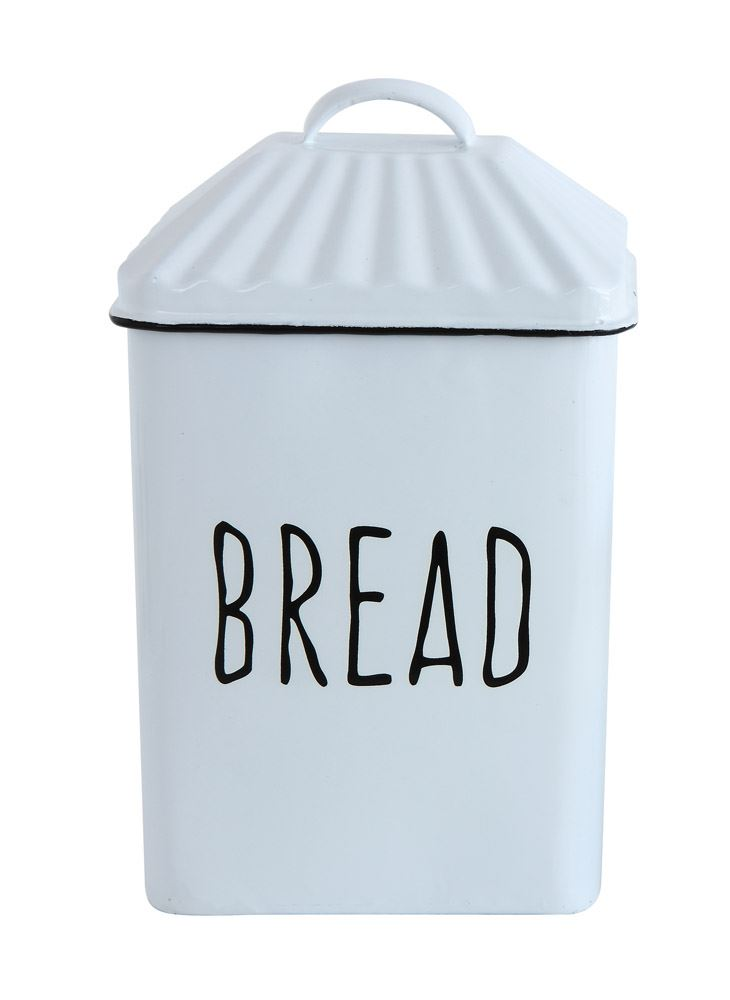 "Enameled ""Bread"" Box w/ Lid"