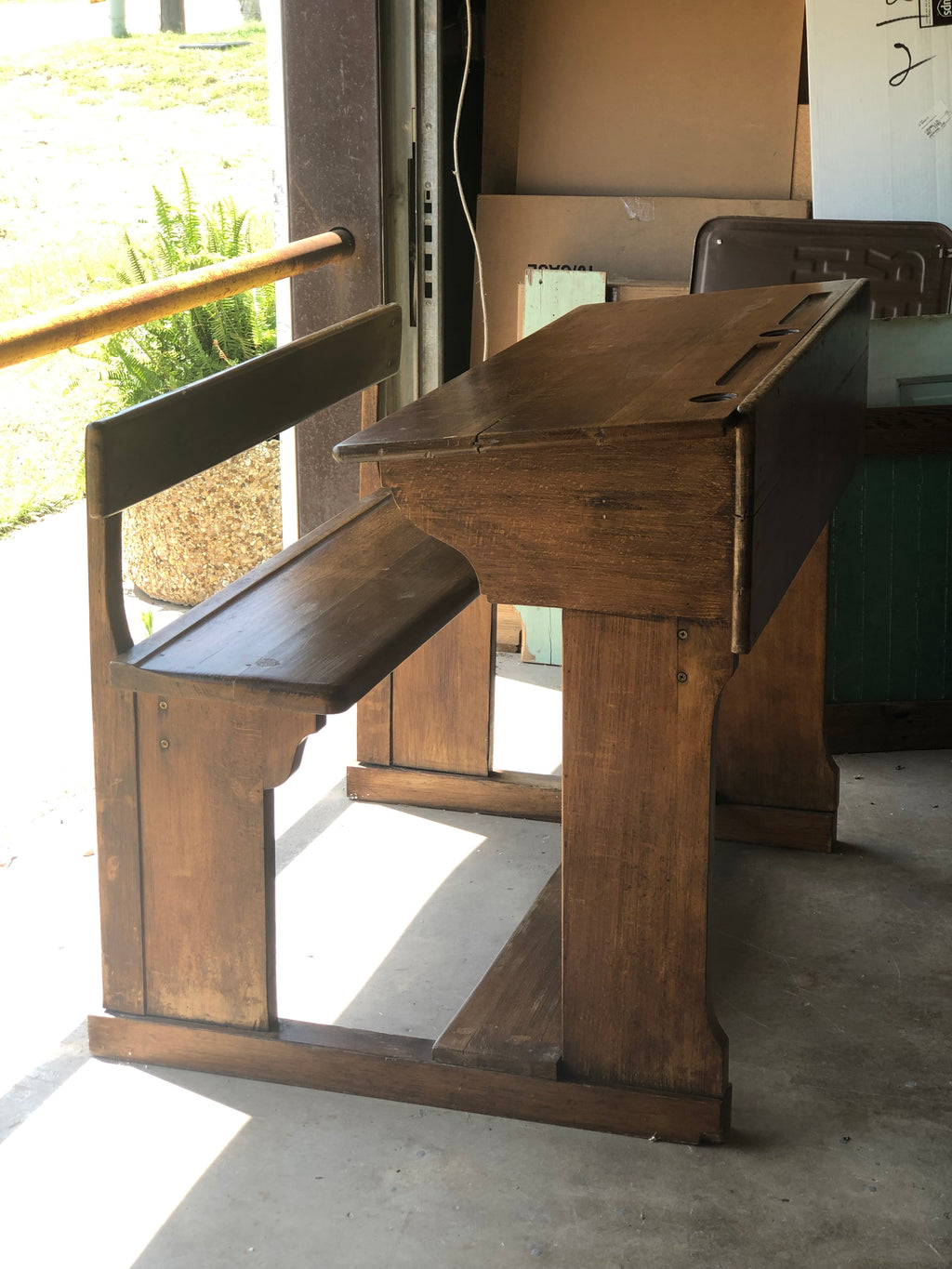 Wooden Antique Double Desk