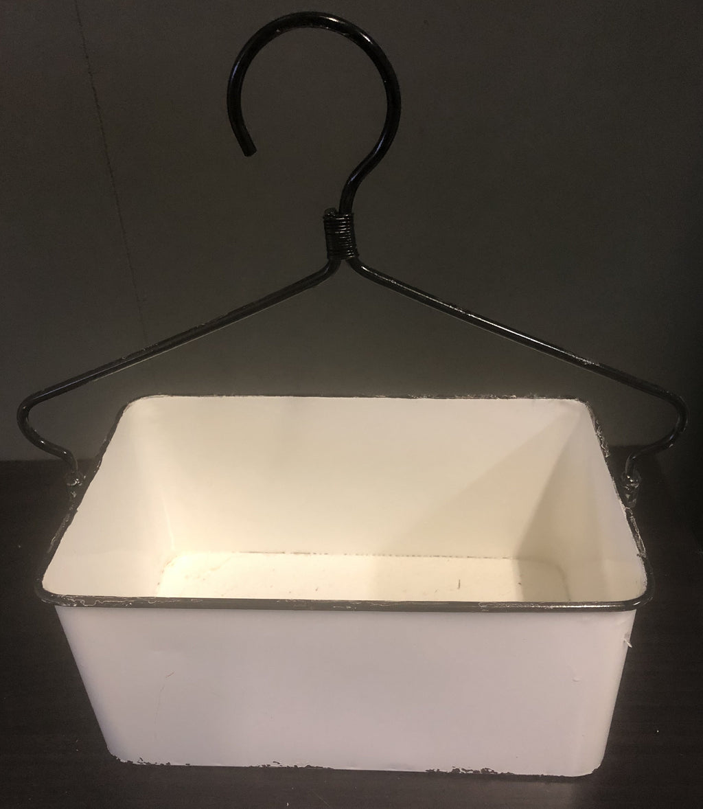White Enamel Container