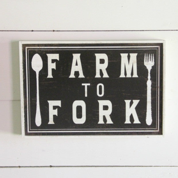 Farm to Fork Sign - E.T. Tobey Company