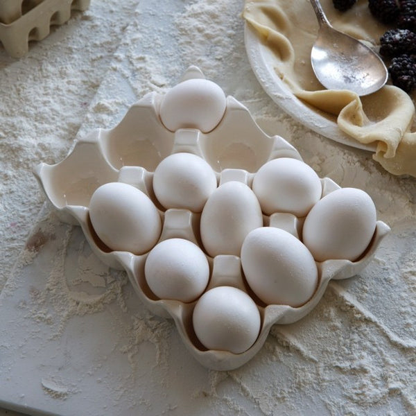 Ceramic Dozen Egg Holder - E.T. Tobey Company