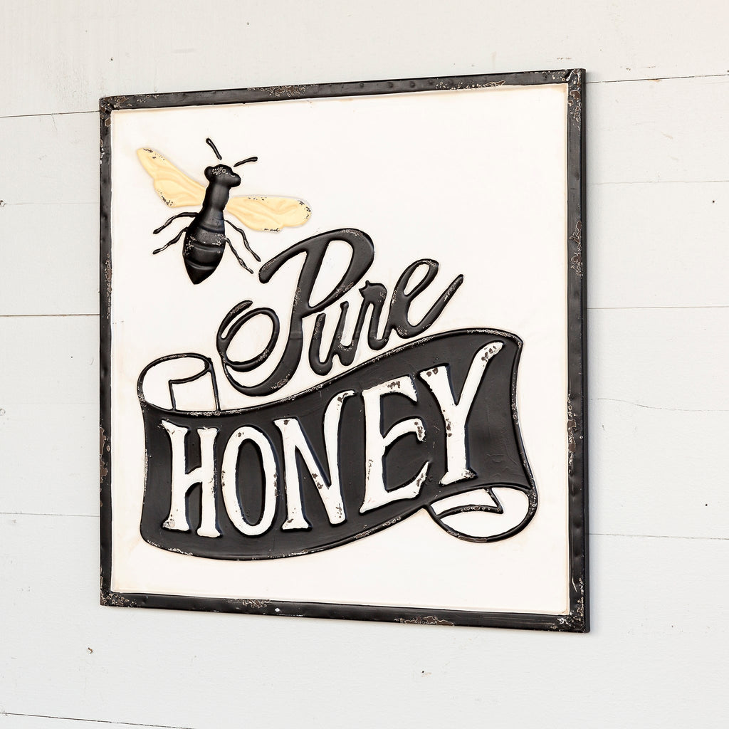 pure honey metal sign - park hill collection - spring decor