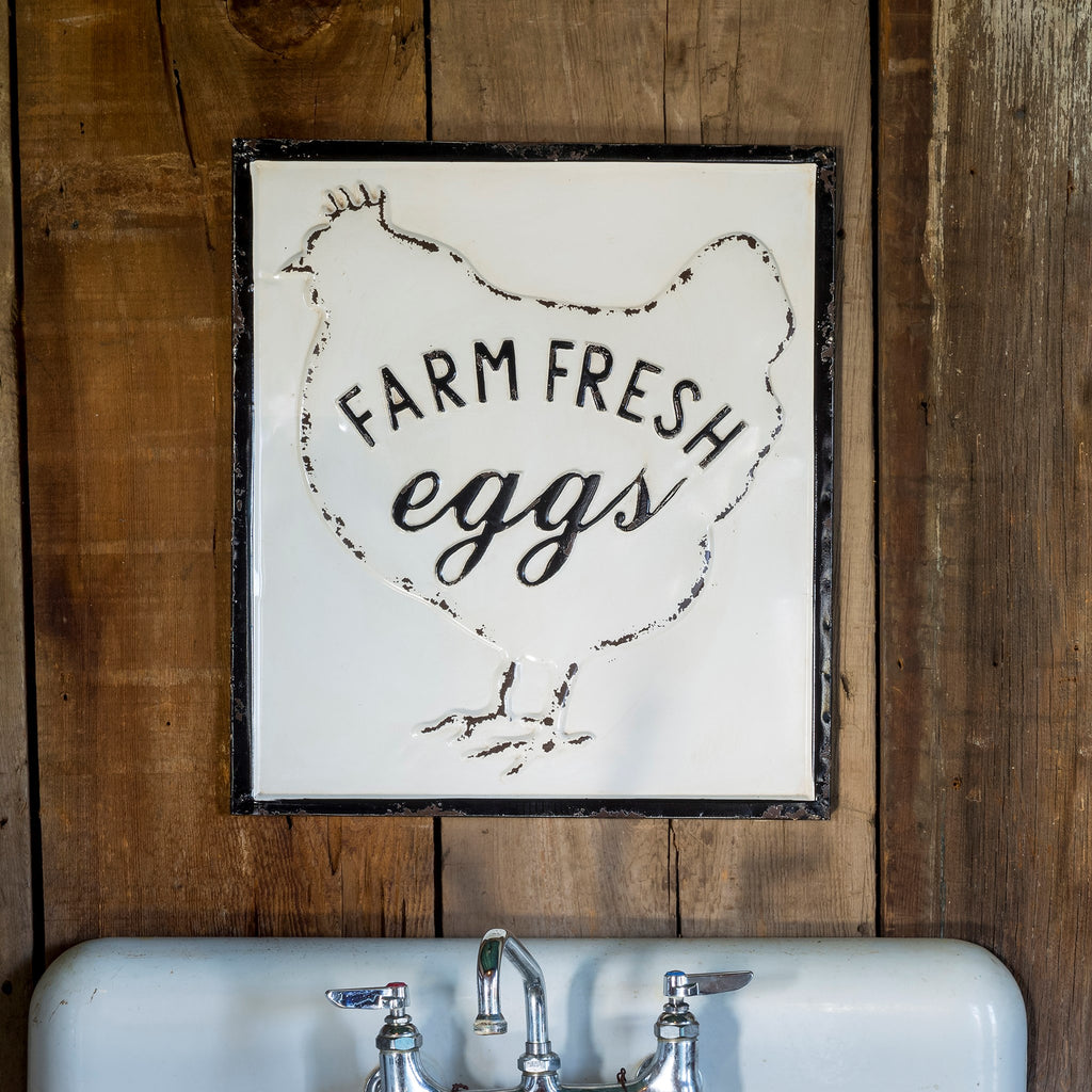 Farm Fresh Eggs Sign - e.t. tobey company