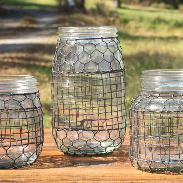 Primitive Wire-Covered Jars