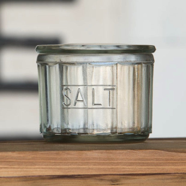 Glass Salt Jar - E.T. Tobey Company - farmhouse kitchen