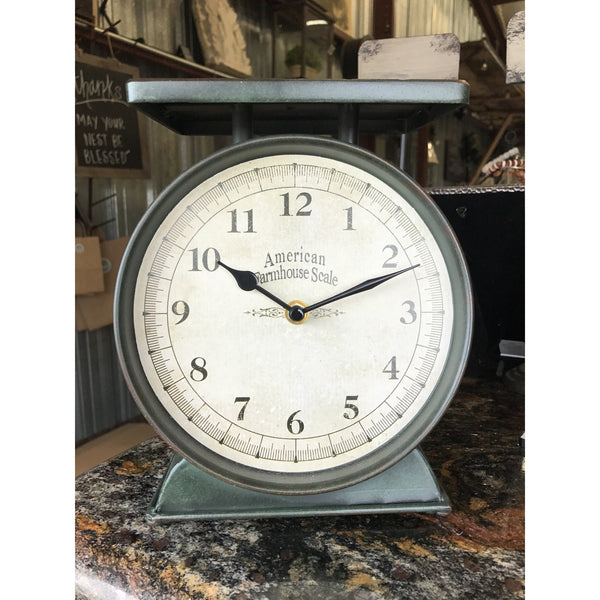 Farmhouse Scale Clock - E.T. Tobey Company