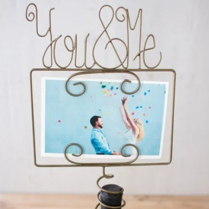 Wine Topper Photo Holder