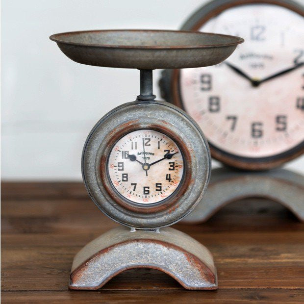 Kitchen scale clock - fixer upper kitchen clock