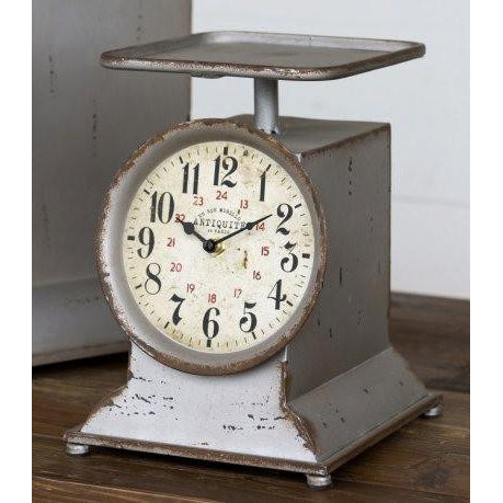 Little Grocery Scale Clock -  Joanna Gains style