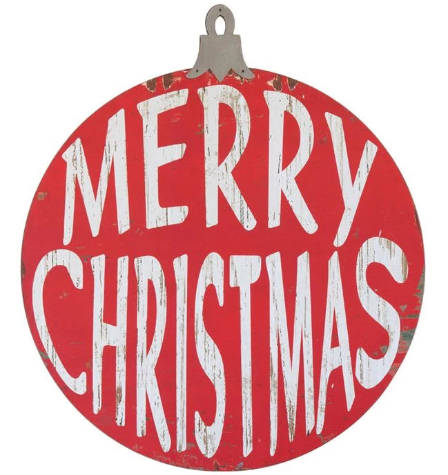 """Merry Christmas"" Wooden Sign"