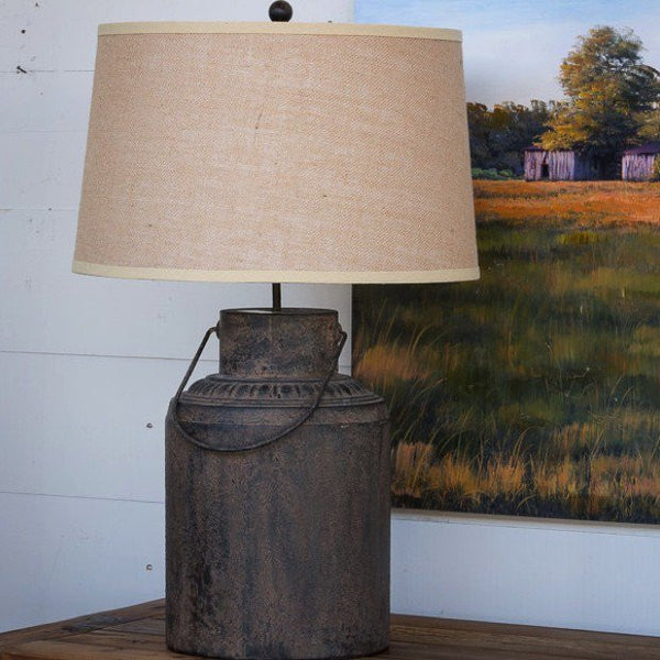 Metal Milk Can Lamp - Vintage Lighting - Modern Farmhouse